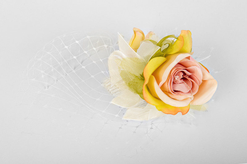 delicate rose bridal hair accessory