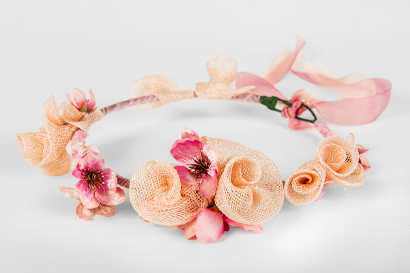 pink flower girl accessories