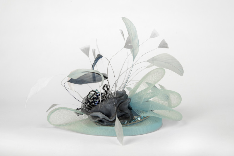 fascinator with floaty feathers