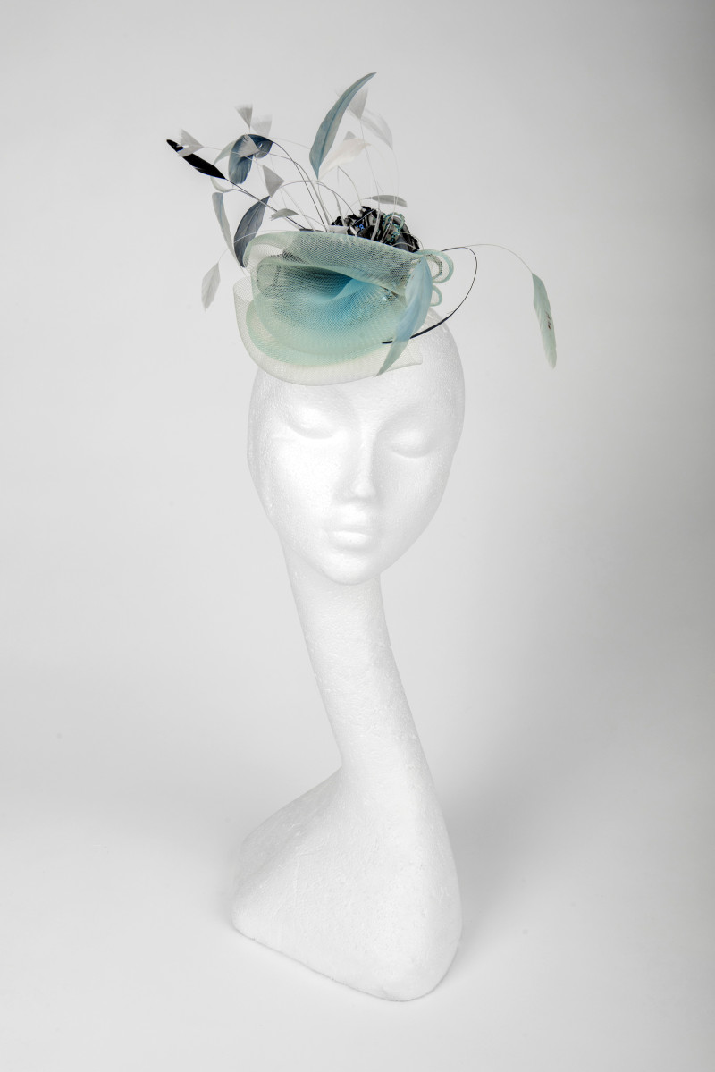 ice blue fascinator