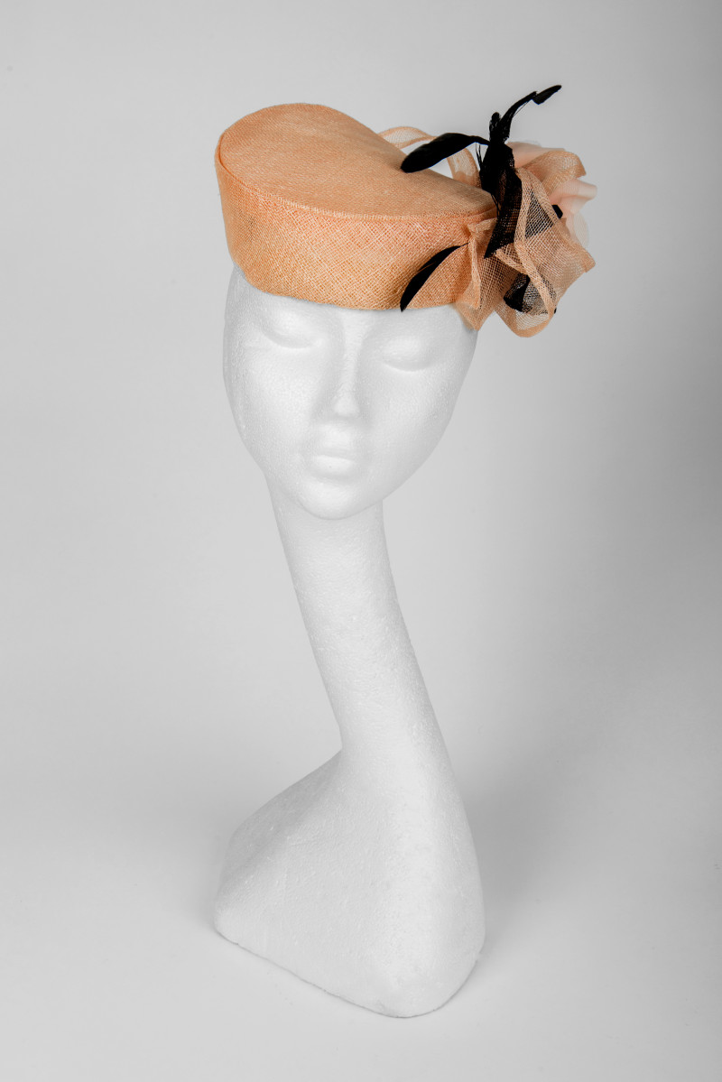 60s look pillbox hat