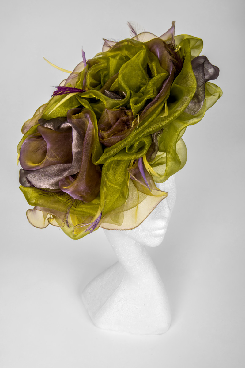 Dramatic hat for the races
