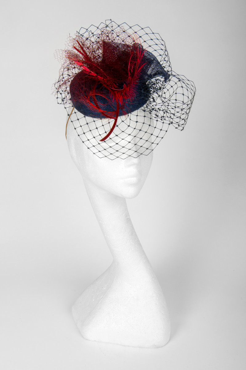 pillbox hat with veiling
