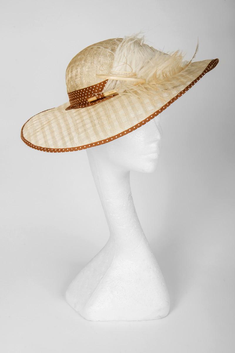 Edwardian round brim hat