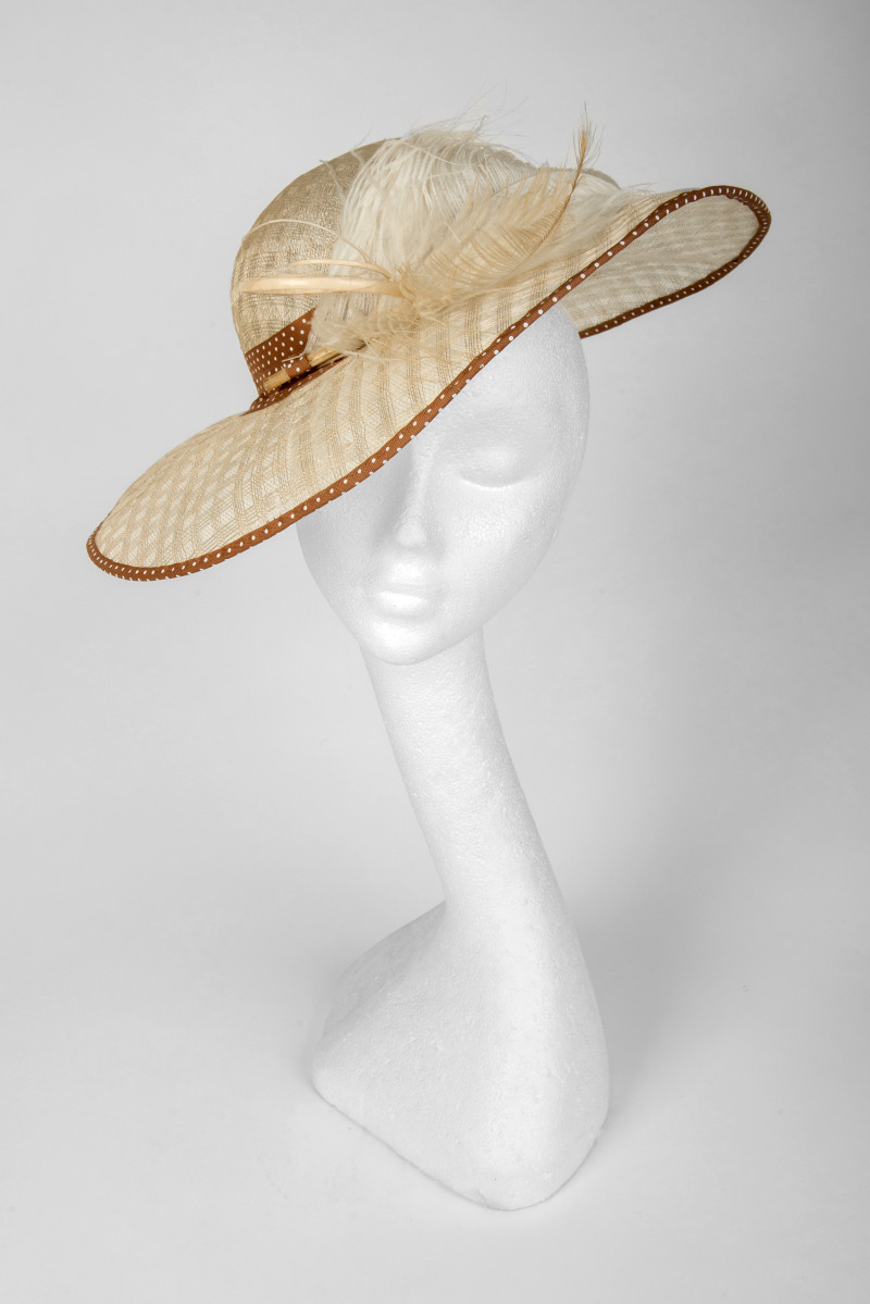 coffee and cream wide brim hat