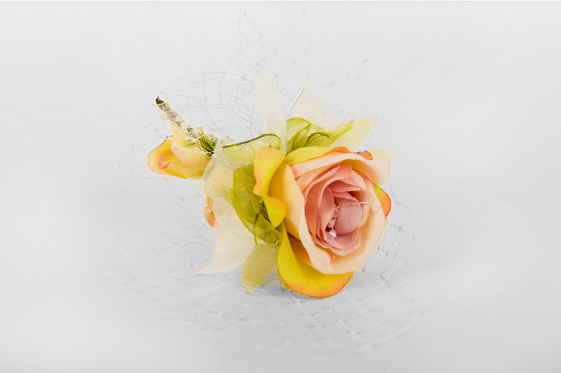 handcrafted bridal silk rose