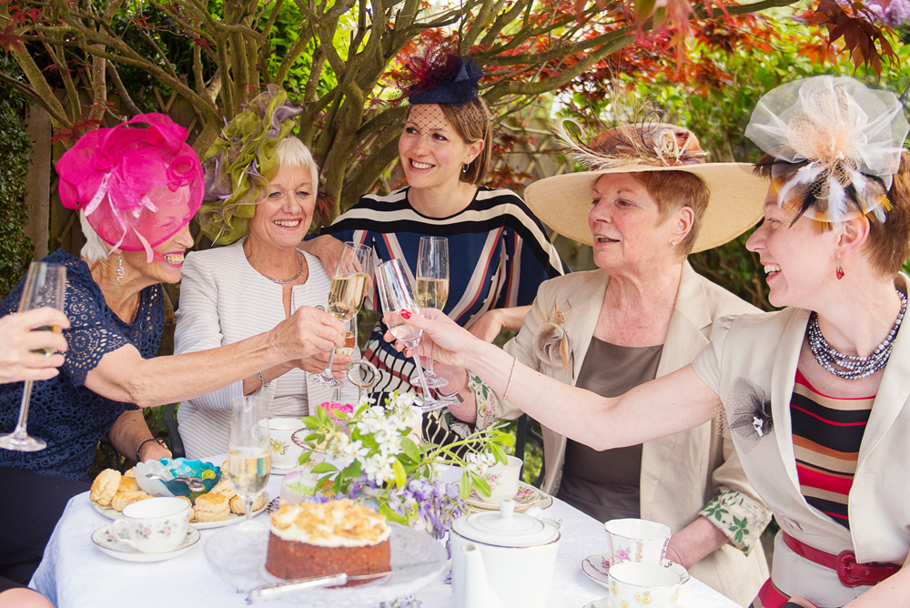 Ladies modelling our bespoke range of hats