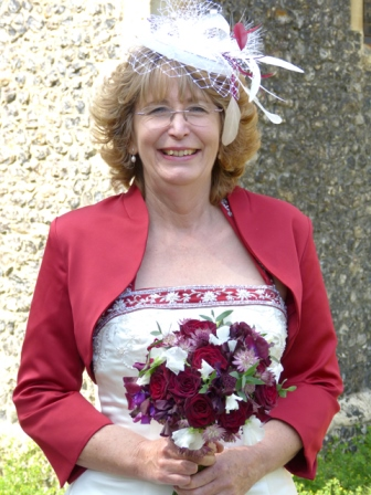 Bride in bespoke headdress
